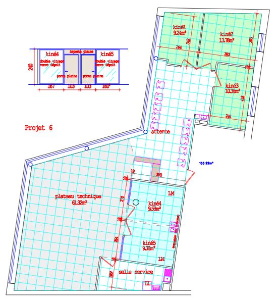 kiné lille plan archi